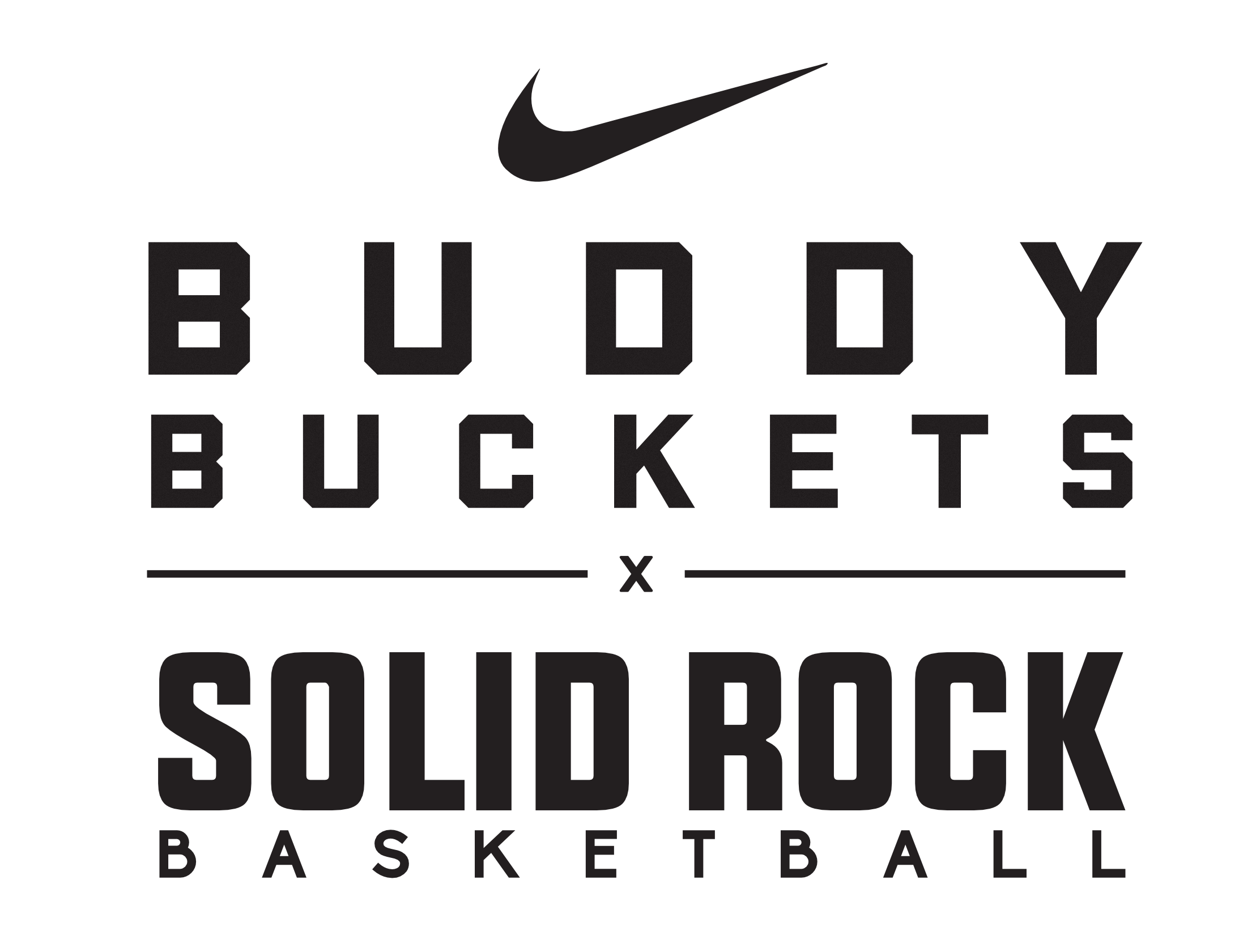 buddy buckets and solid rock combo logo